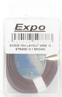 Expo Drills & Tools A22026 Multicore Wire Brown - 10m Roll of 18/0.1mm