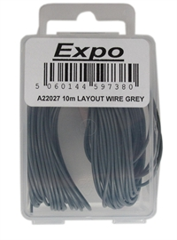 Expo Drills & Tools A22027 Multicore Wire Grey - 10m Roll of 7/0.1mm