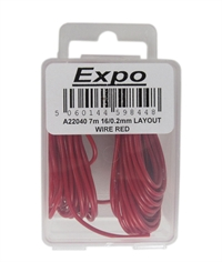 Expo Drills & Tools A22040 Pack Of 16/0.2mm Cable Red 7m