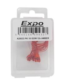 Expo Drills & Tools A25033 10 x Amber 3.2mm Grain of Wheat 12-16 Volt bulb for Colour Light Signals