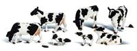 Woodland Scenics A2724 Holstein Freisian dairy cows