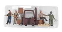 Woodland Scenics A2744 Workers With Forklift