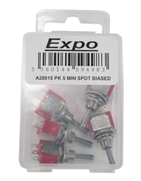 Expo Drills & Tools A28015 5 x single pole double throw biased switches