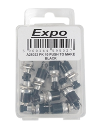 Expo Drills & Tools A28022 10 x push to make switch black