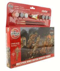 Airfix A55211 WWII British Infantry Multipose Gift Set