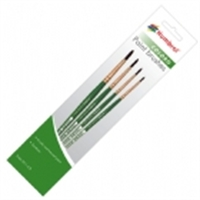 Humbrol AG4050 Coloro paint brush pack including brush sizes 00, 1, 4 & 8