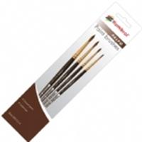 Humbrol AG4250 Palpo paint brush pack including brush sizes 000, 0, 2 & 4
