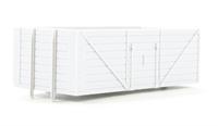 Dapol B006Dapol Unpainted wagon body - 8 plank