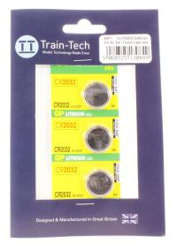 Train Tech BAT1 Long Life Button Batteries x 3