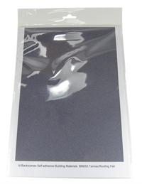 Javis Scenics BM055 Self Adhesive Sheet - Tarmac/Roof Felt 20 x 25cm (x10)
