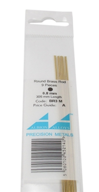 Albion Alloys BR3M Brass Rod 0.8mm (BW08)
