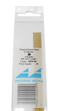 Albion Alloys BR4M Brass Rod 1mm