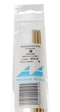 Albion Alloys BR8M Brass Rod 3mm