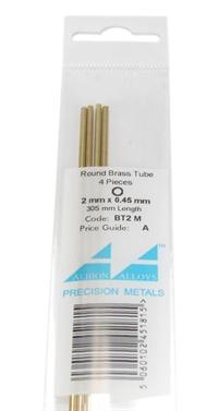 Albion Alloys BT2M 2mm Brass Tube