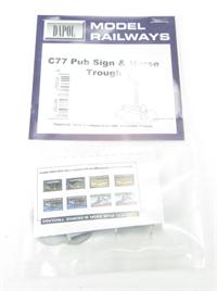 Dapol C077 Pub sign & horse trough. Plastic kit