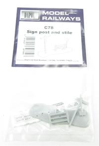 Dapol C078 Signpost & Stile plastic kit