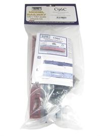 Dapol C096C 57ft Stanier coach non-corridor brake in BR carmine unlined. Plastic kit