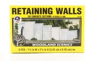 Woodland Scenics C1158 Retaining Walls - Concrete - Pack Of 6