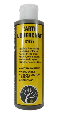 Woodland Scenics C1229 Undercoat Paint - Earth - 8 fl.oz