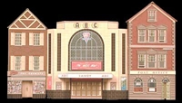 Superquick C2 Cinema, Post Office & Shop (low relief)