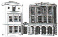 Superquick C4 Regency period shops and houses (low relief)