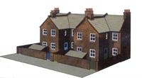 Superquick C5 4 Redbrick terraced house backs (low relief)