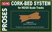 Proses CB-614-5 10 X Pre Cut Cork Bed for R614 615 Cross Tracks