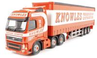 "Corgi Collectables CC14034 Volvo FH (Face Lift) Curtainside Trailer ""Knowles Transport Ltd, March, Cambridgeshire"""