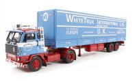 "Corgi Collectables CC15601 Volvo F89 Tilt Trailer ""White Trux International Ltd, Canterbury, Kent"" NEW TOOLING"