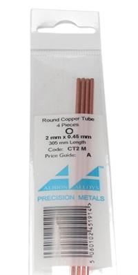 Albion Alloys CT2M 2mm Copper Tube