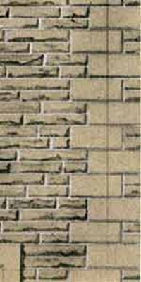 Superquick D10 Building papers - Grey sandstone walling.