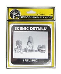 Woodland Scenics D212 Fuel Stands x 3