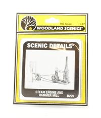 Woodland Scenics D229 Steam Engine & Hammer Mill