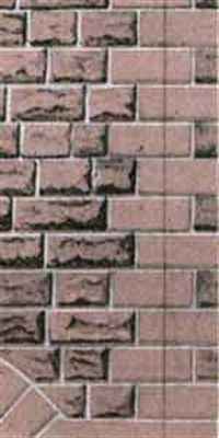Superquick D9 Building papers - red sandstone walling (Ashlar style)