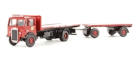 Base Toys DA42 Albion CX3 flatbed & drawbar trailer 'BRS' (circa 1948-1958)