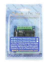 DCC Concepts DCD-ADS2FX COBALT Solenoid Accessory Decoder (2 Output)