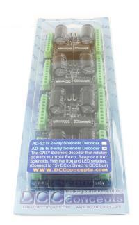 DCC Concepts DCD-ADS8FX COBALT Solenoid Accessory Decoder (8 Output)