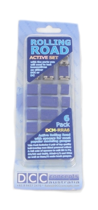 DCC Concepts DCM-RRA6 Rolling Road - Active Set - 6 Way - For OO, N, HO, TT Gauge - See Description (ex DCP101)
