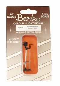 Berko ECKB232 2 light signal red/yellow standard square head