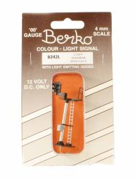Berko ECKB242L 2 light signal red/green standard left offset square head