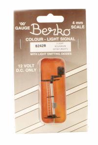 Berko ECKB242R 2 light signal red/green standard right offset square head