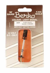 Berko ECKB604 4 light signal red/green/2yellow standard square head