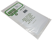 "Evergreen Plastics EG2040 12"" x 6"" V Groove sheet  0.40SP"