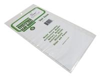"Evergreen Plastics EG4051 12"" x 6"" Clapboard sheet .050"" spacing"