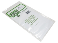 "Evergreen Plastics EG4067 12"" x 6"" Car side sheet 0.40"" thickness"