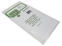 "Evergreen Plastics EG4080 12"" x 6"" V Groove sheet .080"" spacing"