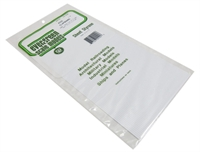"Evergreen Plastics EG4101 12"" x 6"" Clapboard sheet .10"" spacing."