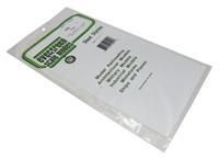 """Evergreen Plastics EG4501 12"""" x 6"""" Square tile sheet 1/16"""" squares"""