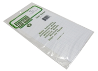 "Evergreen Plastics EG4507 12"" x 6"" Square tile sheet 1/2"" squares."