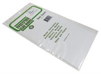 """Evergreen Plastics EG4516 12"""" x 6"""" Pavement tile sheet 1/4"""" squares"""